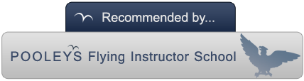 Recommended by Pooleys Flying Instructor School